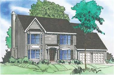 4-Bedroom, 2381 Sq Ft Country Home Plan - 147-1106 - Main Exterior