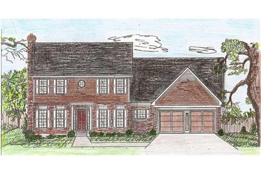 147-1110: Home Plan Rendering