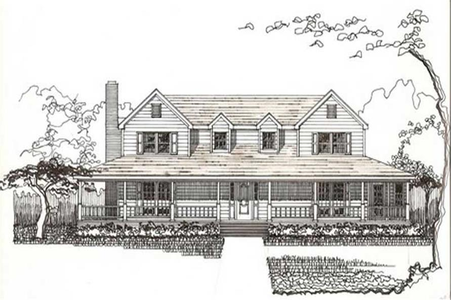 Home Plan Front Elevation of this 5-Bedroom,2758 Sq Ft Plan -147-1113