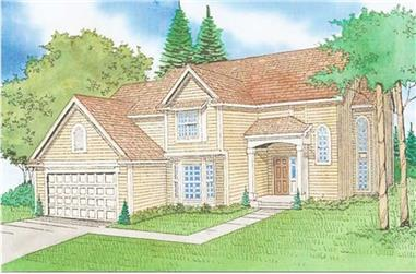 4-Bedroom, 2167 Sq Ft Traditional Home Plan - 147-1123 - Main Exterior