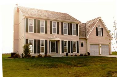 4-Bedroom, 2448 Sq Ft Colonial House - Plan #147-1128 - Front Exterior