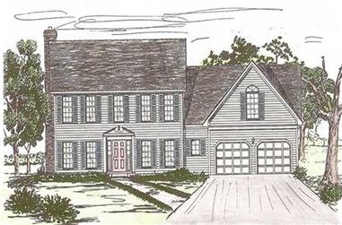 4-Bedroom, 2448 Sq Ft European Home Plan - 147-1128 - Main Exterior