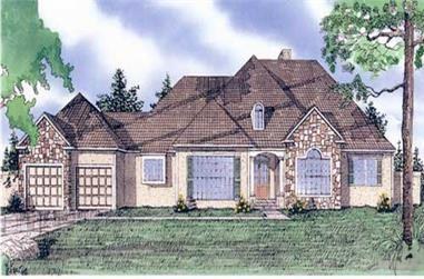 3-Bedroom, 2585 Sq Ft Ranch House Plan - 147-1130 - Front Exterior