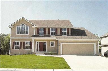 5-Bedroom, 2317 Sq Ft Country Home Plan - 147-1131 - Main Exterior
