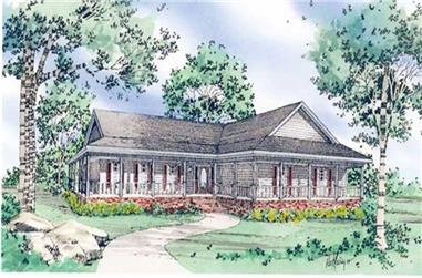 Front elevation of Country home (ThePlanCollection: House Plan #147-1141)