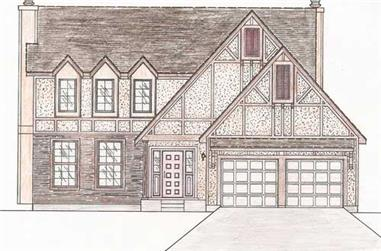 4-Bedroom, 2147 Sq Ft European Home Plan - 147-1142 - Main Exterior