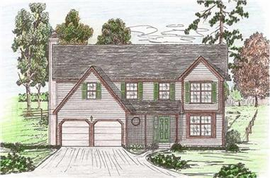 4-Bedroom, 2415 Sq Ft Traditional Home Plan - 147-1144 - Main Exterior