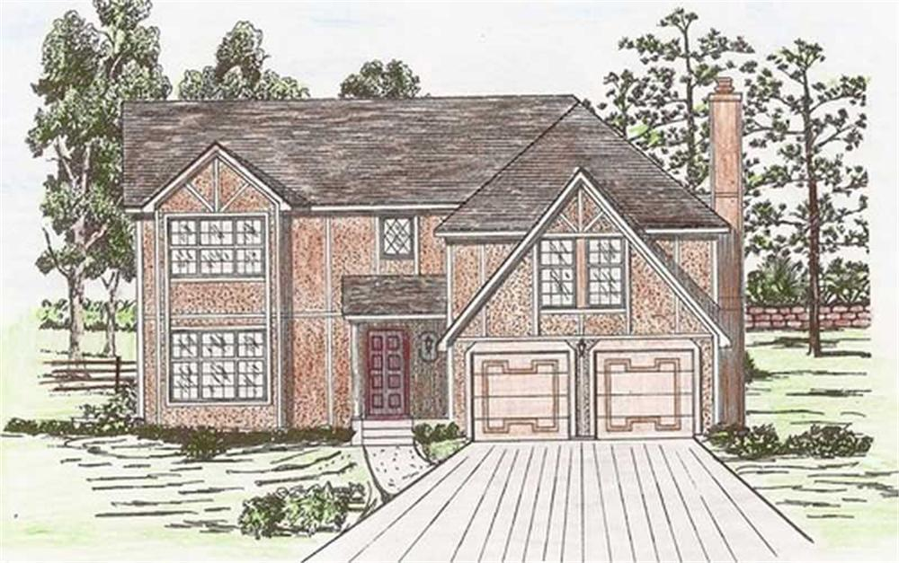 Front elevation of Country home (ThePlanCollection: House Plan #147-1146)
