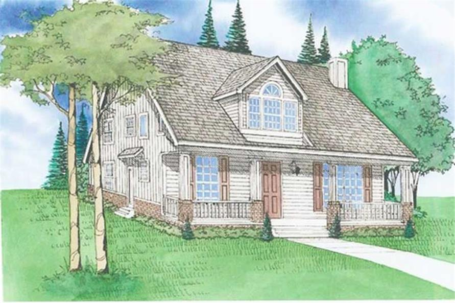 3-Bedroom, 2622 Sq Ft Country Home Plan - 147-1147 - Main Exterior