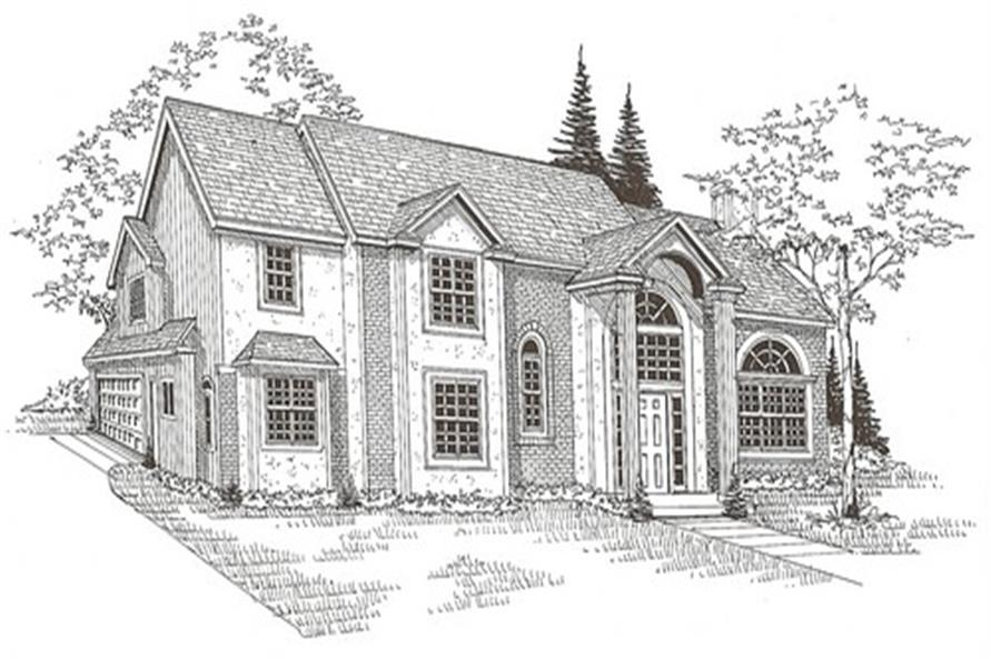 147-1150: Home Plan Front Elevation