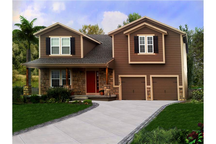 3-Bedroom, 2043 Sq Ft Country Home Plan - 147-1151 - Main Exterior
