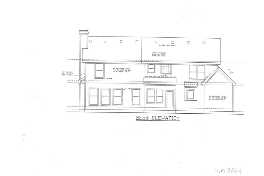 147-1153: Home Plan Rear Elevation