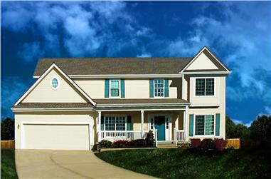 4-Bedroom, 2443 Sq Ft Country Home Plan - 147-1153 - Main Exterior