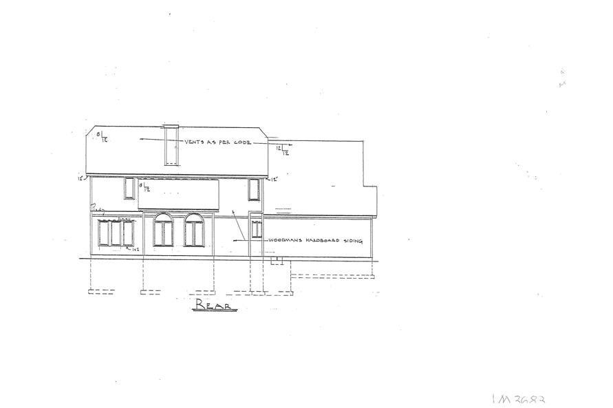 147-1154: Home Plan Rear Elevation
