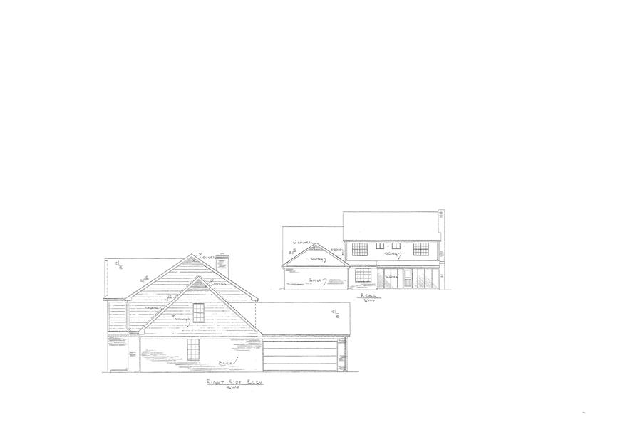 147-1155: Home Plan Rear Elevation