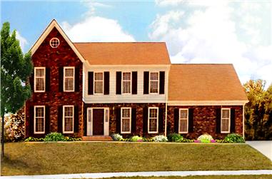 4-Bedroom, 2798 Sq Ft Traditional House Plan - 147-1155 - Front Exterior