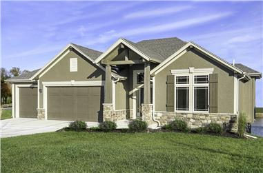 4-Bedroom, 2587 Sq Ft Cottage House Plan - 147-1158 - Front Exterior