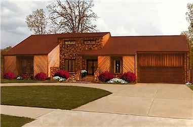 3-Bedroom, 3004 Sq Ft Contemporary Home Plan - 147-1161 - Main Exterior