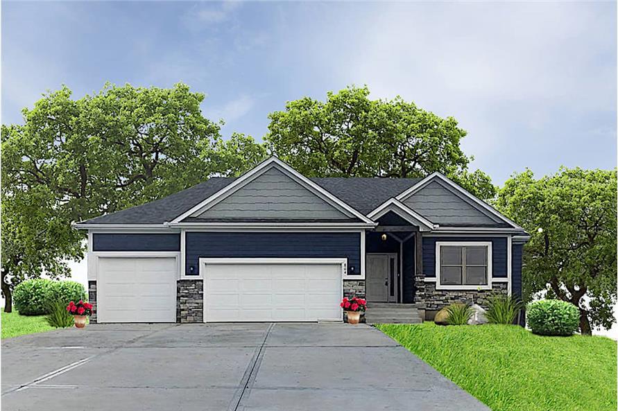 3-Bedroom, 2399 Sq Ft Ranch Home - Plan #147-1165 - Main Exterior