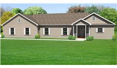 This a front elevation of these Ranch House Plans.