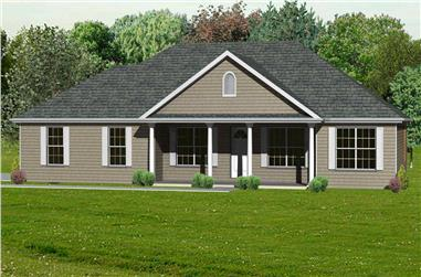 This is the computer generated rendering of these Ranch Houseplans.