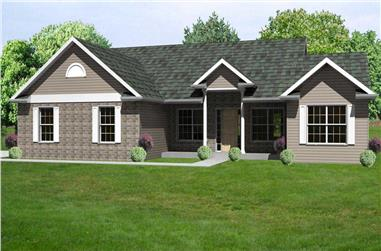 3-Bedroom, 2078 Sq Ft Country Home Plan - 148-1003 - Main Exterior