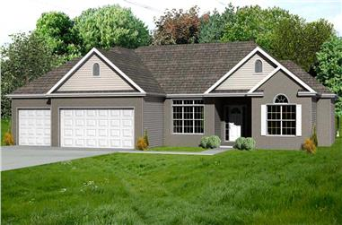 2-Bedroom, 1948 Sq Ft Country Home Plan - 148-1004 - Main Exterior