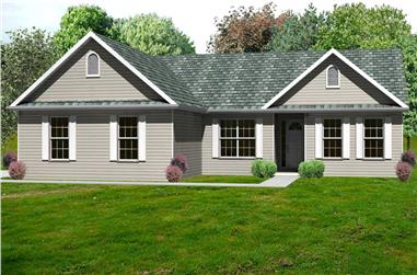 3-Bedroom, 1980 Sq Ft Country House Plan - 148-1007 - Front Exterior