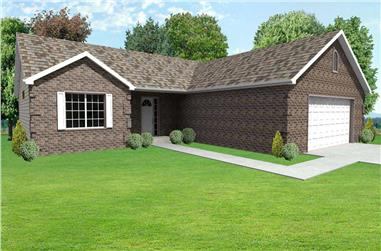 3-Bedroom, 1824 Sq Ft Country Home Plan - 148-1008 - Main Exterior