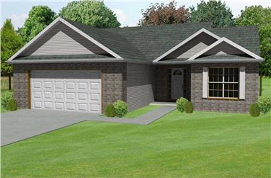 3-Bedroom, 1714 Sq Ft Country Home Plan - 148-1009 - Main Exterior