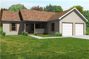 3-Bedroom, 1792 Sq Ft Country House Plan - 148-1010 - Front Exterior