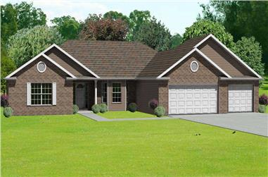 4-Bedroom, 2360 Sq Ft Country Home Plan - 148-1013 - Main Exterior