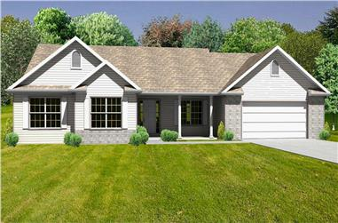 This is a nice 3D Rendering of these Ranch Homeplans.