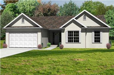 3-Bedroom, 1418 Sq Ft Country House Plan - 148-1018 - Front Exterior