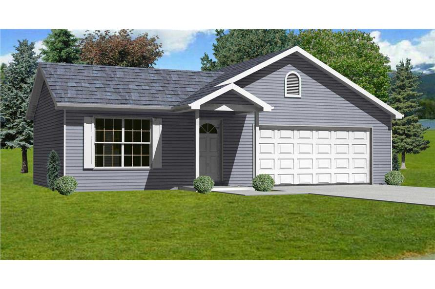 Perfect #148 1021 · 3 Bedroom, 1200 Sq Ft Ranch Home Plan   148 1021   Main