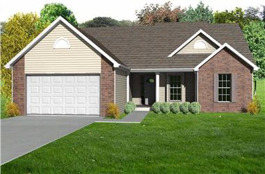 3-Bedroom, 1484 Sq Ft Country Home Plan - 148-1024 - Main Exterior