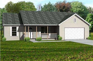 3-Bedroom, 1588 Sq Ft Country House Plan - 148-1025 - Front Exterior