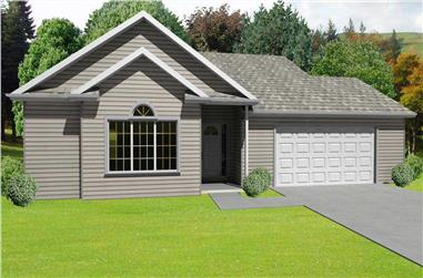 3-Bedroom, 1414 Sq Ft Country Home Plan - 148-1026 - Main Exterior