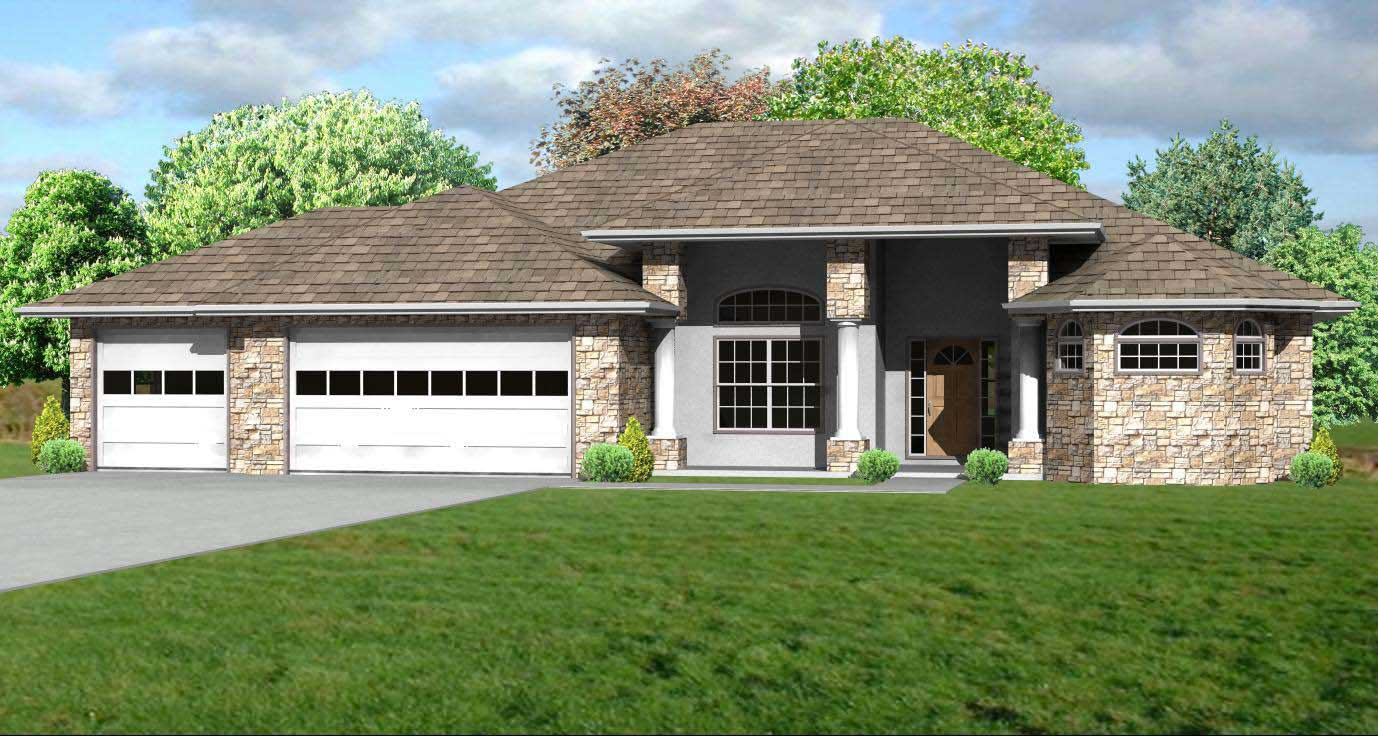 Prairie house plans home design mas1041 for Prairie home plans