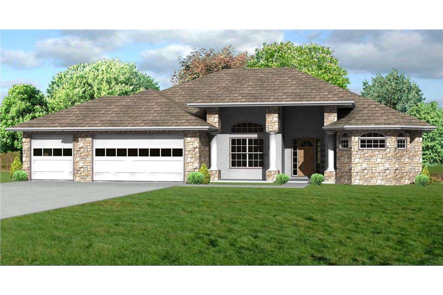 Prairie House Plans - Home Design mas1041