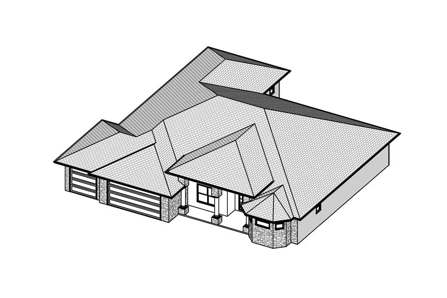 Home Plan 3D Image of this 3-Bedroom,2672 Sq Ft Plan -2672
