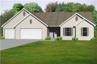 3-Bedroom, 1806 Sq Ft Country House Plan - 148-1028 - Front Exterior