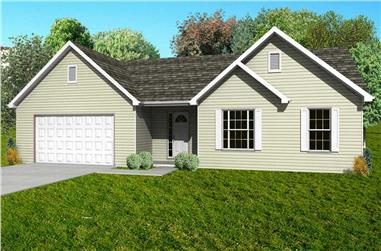 3-Bedroom, 1440 Sq Ft Country House Plan - 148-1030 - Front Exterior