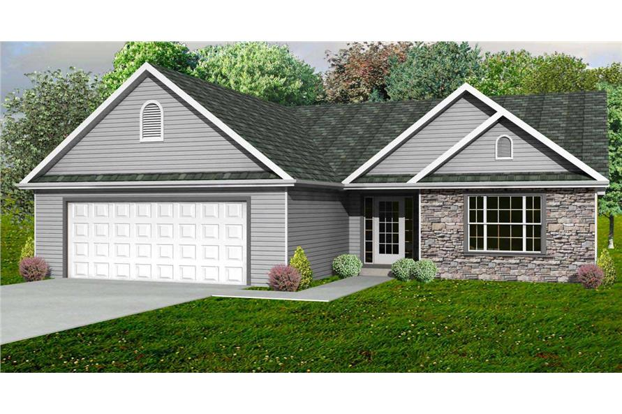 This is the rendering of these Cottage House Plans.
