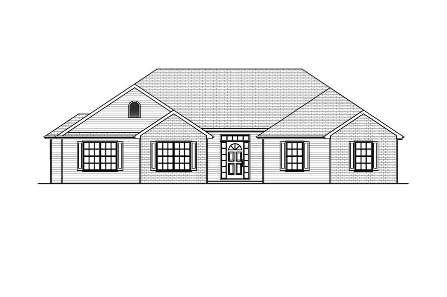 Home Plan Front Elevation of this 3-Bedroom,1762 Sq Ft Plan -148-1032