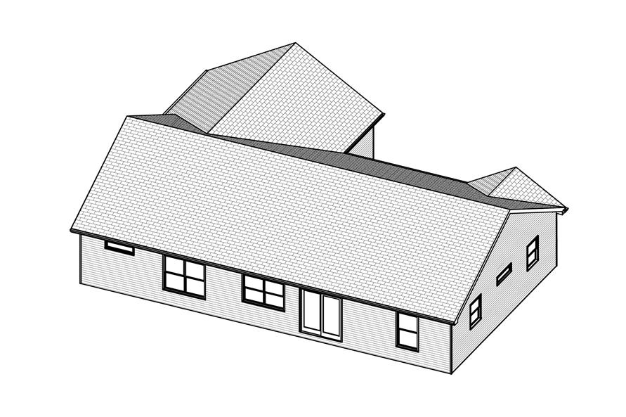 Home Plan 3D Image of this 3-Bedroom,1434 Sq Ft Plan -1434