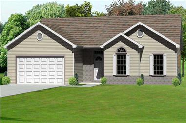3-Bedroom, 1516 Sq Ft Country Home Plan - 148-1034 - Main Exterior
