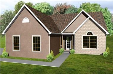 3-Bedroom, 1480 Sq Ft Country Home Plan - 148-1035 - Main Exterior
