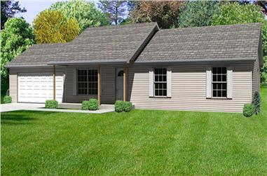 3-Bedroom, 1232 Sq Ft Country House Plan - 148-1038 - Front Exterior