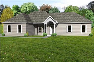 3-Bedroom, 2090 Sq Ft European Home Plan - 148-1040 - Main Exterior